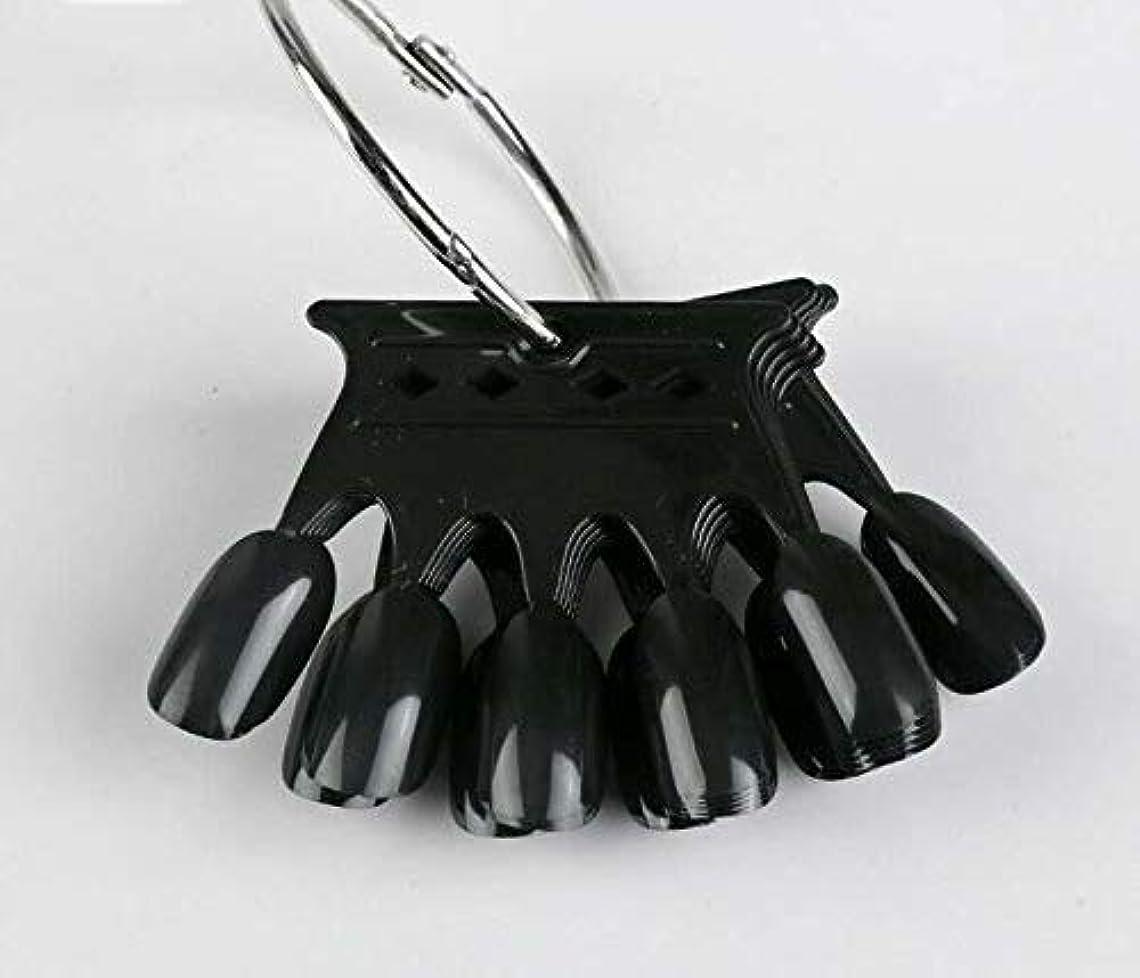 尊敬葬儀十10pcs Black Crown Shaped Nail Art Display Tips False Nail Tips Fake Palette Acrylic UV Gel Polish Manicure Practice...