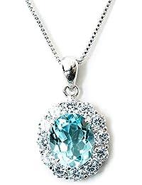 One&Only Jewellery 一生物 超大粒 5ct 天然 ブルートパーズ ネックレス ペンダント K18GP 11月誕生石