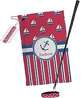 Sailボートストライプゴルフタオルギフトセット( Personalized )