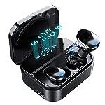 【120時間連続駆働 IPX7完全防水】Bluetooth イヤホン LEDディスプレイ HI-FI高音質 3Dステレオサウンド 2200mAh大容量充電ケース付き 完全ワイヤレス イヤホン 自動ペアリング 両耳 左右分離型 CVC8.0ノイズキャンセリング対応 ブルートゥース イヤホン 両耳通話 技適認証済/iPhone/ipad/Android対応