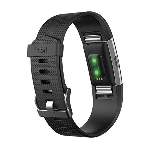 Fitbit フィットビット 心拍計 フィットネスリストバンド Charge2 心拍 睡眠 VO2max 健康管理 活動量計 アクティブトラッカー Black ブラック Lサイズ 【日本正規品】 FB407SBKL-JPN