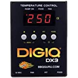 BBQ Guru DigiQ DX3 BBQ Temperature Controller, Digital Meat Thermometer with Universal Adaptor Big Green Egg and Weber