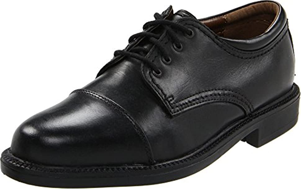 反発クルーズラッチDockers Men's Gordon Leather Dress Captoe Oxford Shoe, Black, 16 D(M) US