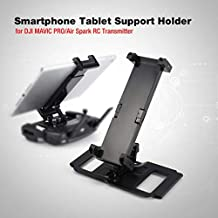 Smartphone Tablet Support Holder Adapter for DJI Mavic PRO/Air Spark RC Drone Quadcopter Transmitter for 4-12in Monitor Pad(Color:Black)