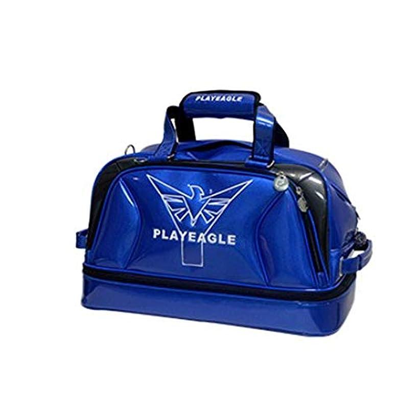 タール調和のとれたプラスチックゴルフダッフルバッグ、 ゴルフウェアバッグ収納バッグ防水トラベルバッグアウトドアジムバッグ大容量フィットネスハンドバッグブルー ジムスポーツバッグ (色 : 青, サイズ : Medium)