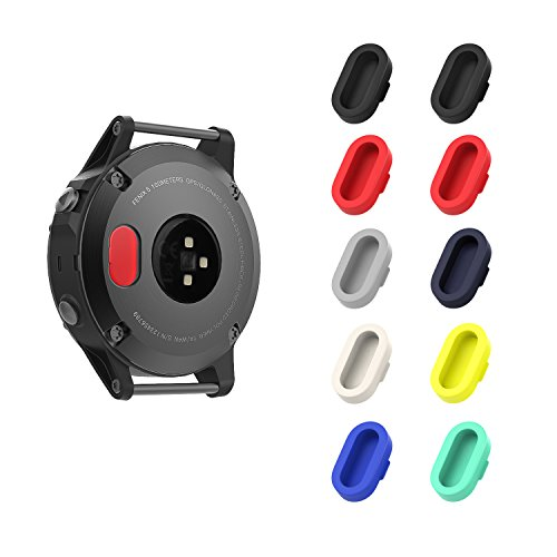 Garmin Fenix 5 防塵プラグ - ATiC Garmin Fenix 5/5S/5X/Forerunner 935/Vivoactive 3/Vivosport/D2 Charlie/Quatix 5用 充電器ポート用 シリコーン製 防塵プラグ 10個 1-多彩-A