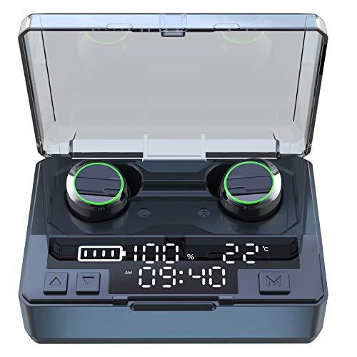 Hihiccup Bluetooth イヤホン LED温度時間残量表示 IPX8 7000mAh