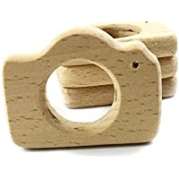 5pc Camera Teether Organic Safe and Natural for Photographer Baby Teether Wooden Photo Wood Toy by LOVEBABY