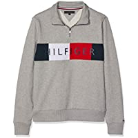 TOMMY HILFIGER Men's Zip-Thru Logo Sweatshirt