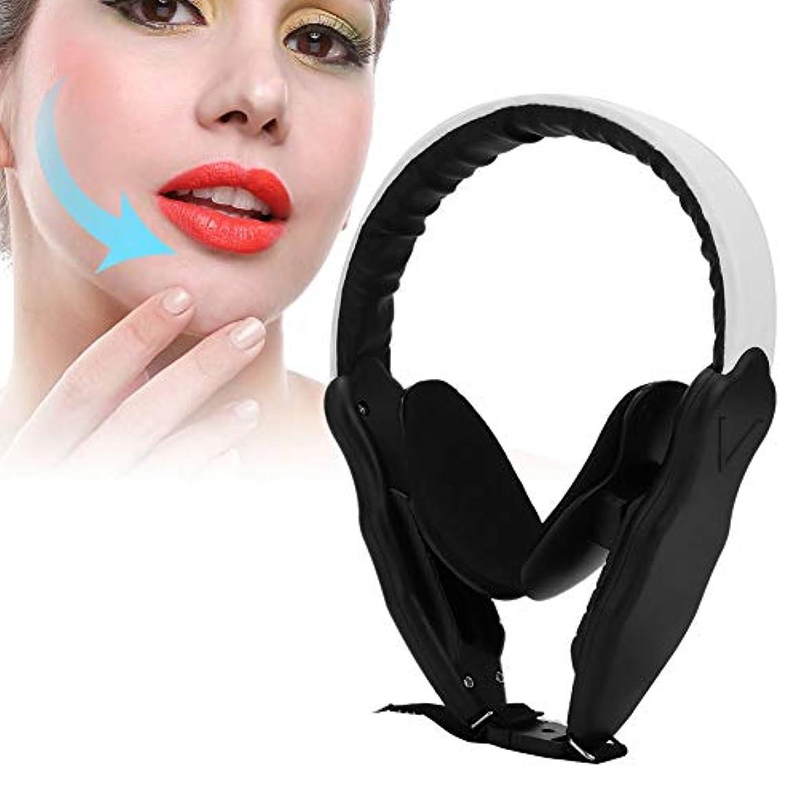 バッテリー地域の慣れる小顔マスク 矯正 調節可能な圧力工具を細くする薄い顔の補正装置のあごの頬の皮のマッサージの持ち上がること