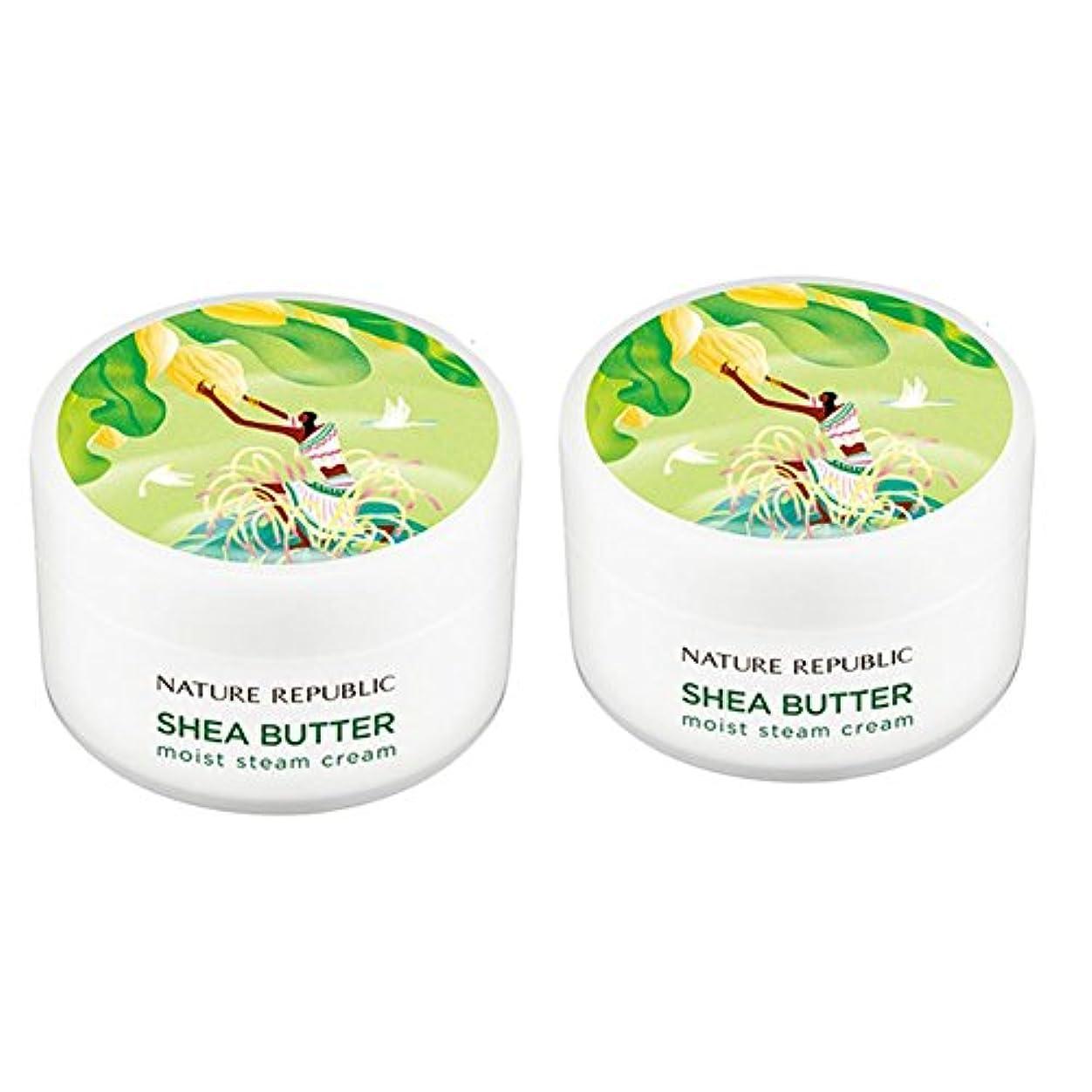 倍増ダンプ発信ネイチャーリパブリック(NATURE REPUBLIC)シェアバターモイストスチームクリーム100mlx 2本セット NATURE REPUBLIC Shea Butter Moist Steam Cream 100mlx...