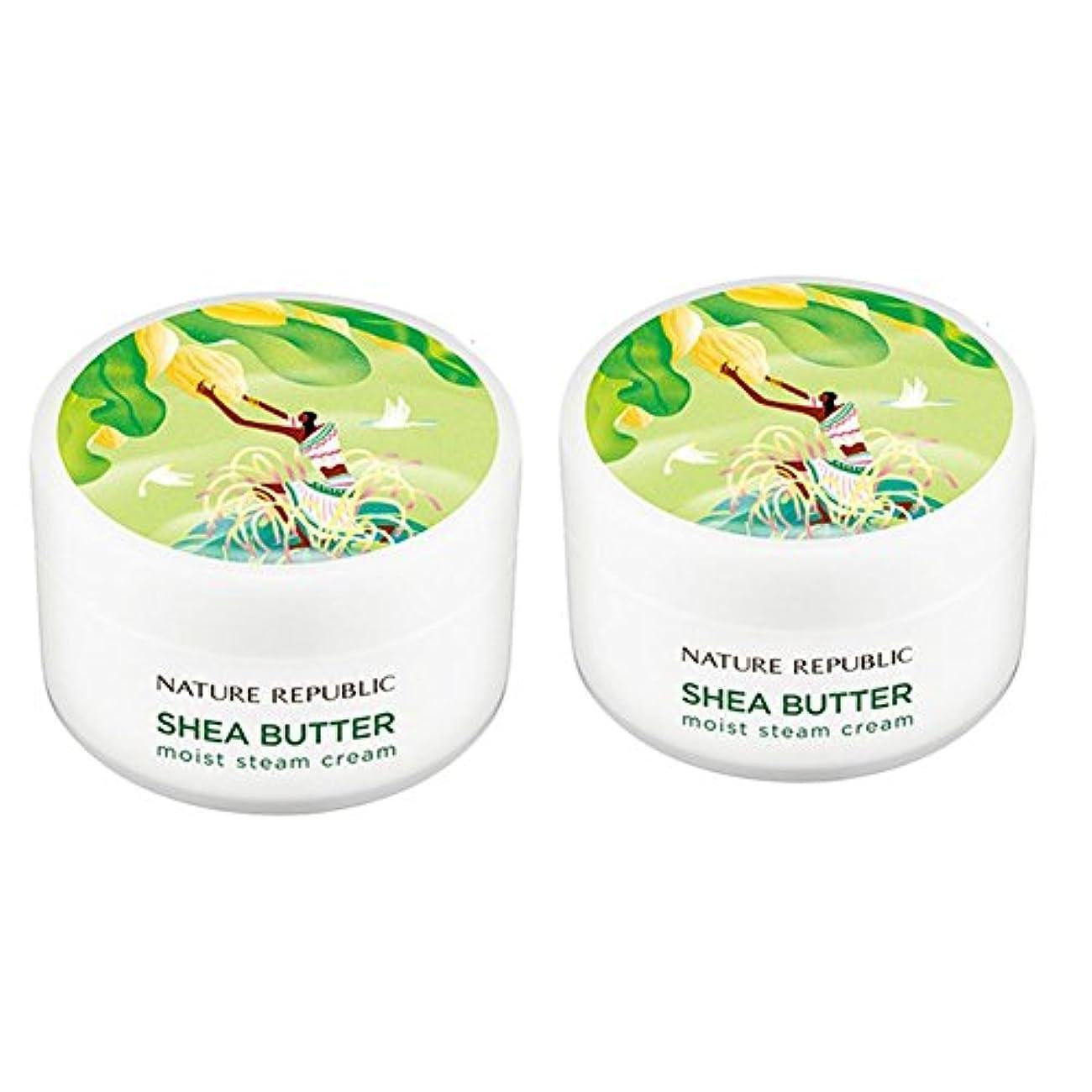 ぜいたく別に規制するネイチャーリパブリック(NATURE REPUBLIC)シェアバターモイストスチームクリーム100mlx 2本セット NATURE REPUBLIC Shea Butter Moist Steam Cream 100mlx...