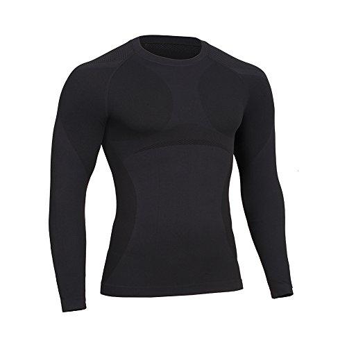 FeelinGirl(JP) メンズ コンプレッションウェア 加圧 怪我防止 姿勢矯正 長袖トップ スポーツシャツ 11