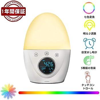 目覚まし時計 大音量 光 LEDライト ナイトライト RegeMoudal 光+音 目覚まし時計めざまし時計 置き時計 授乳用 寝室用 USB充電 輝度調整