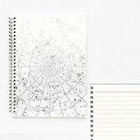 ノート、メモ帳 LLP 2 PCS Creative Starry Edge Bronzing Series A5 B5 Notebook Laser Coil Notepad Diary Book Gift Stationery、Size:A5(Silver Square) (色 : Silver Horizontal Line)