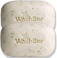 WashBar Natural Dog Shampoo Bar, Natural Soap and Dog Shampoo for Dry Itchy Skin, Easier to Use Than Liquid Sh