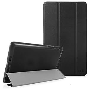 ATiC Google New Nexus 2013 7.0インチケース - ATiC Google New Nexus 2013 7.0インチタブレット専用開閉式三つ折薄型スタンドケース。BLACK (オートスリープ機能付き)