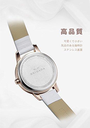 0e52d1832ab4 ... BRIGADA 高級 時計 レディース ブランド 人気、ホワイト 可愛い ファッション 腕時計 レディース ブランド 人気、自分 ...