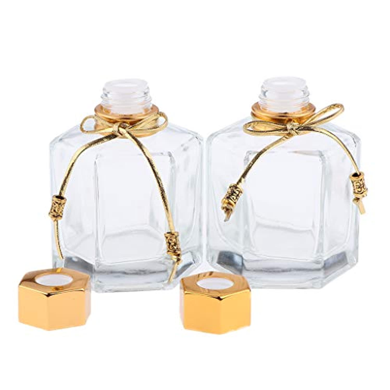 キャップ衣類バラバラにする香水瓶 ガラス 香水ボトル オイル エッセンシャルオイル ボトル 拡散器 2色選べ - ゴールデン