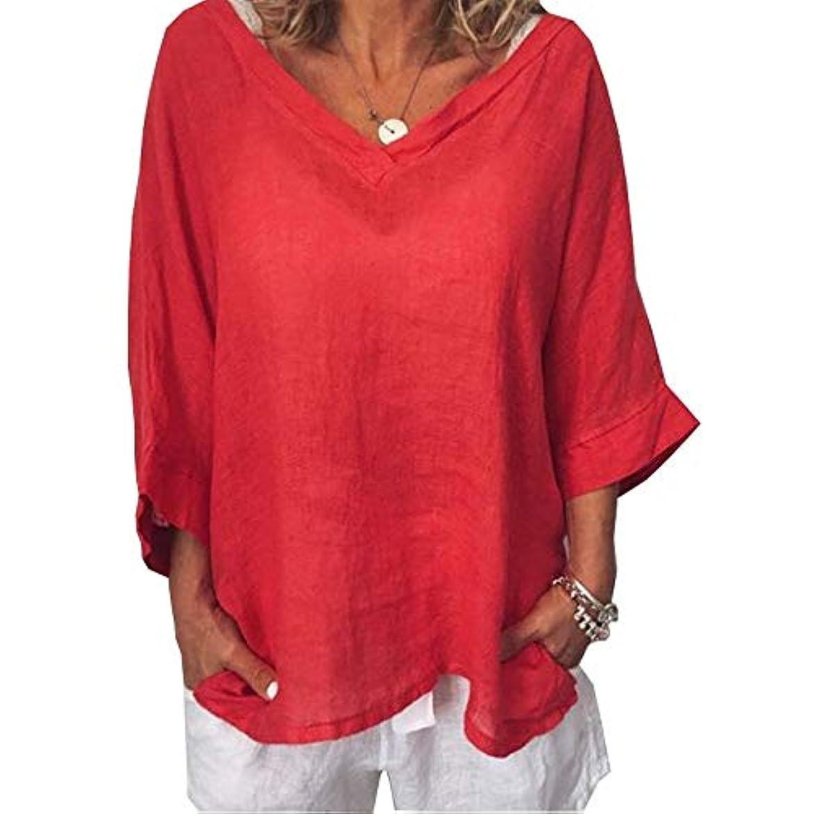 逆に嫌い酸っぱいMIFAN女性ファッションカジュアルVネックトップス無地長袖Tシャツルーズボヘミアンビーチウェア