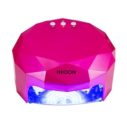 HECION LEDジェルネイルライト UVランプ ネイルドライヤー 48W ネイル硬化用ライト 30・60・90秒タイマー設定 人感センサー (レッド)