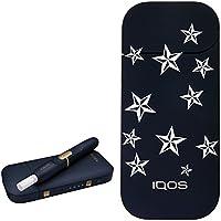 [スター] カラー プリント デザイン アイコス 新型 iQOS 2.4 Plus KIT 国内正規品 本体 キット セット (スター,ネイビー)