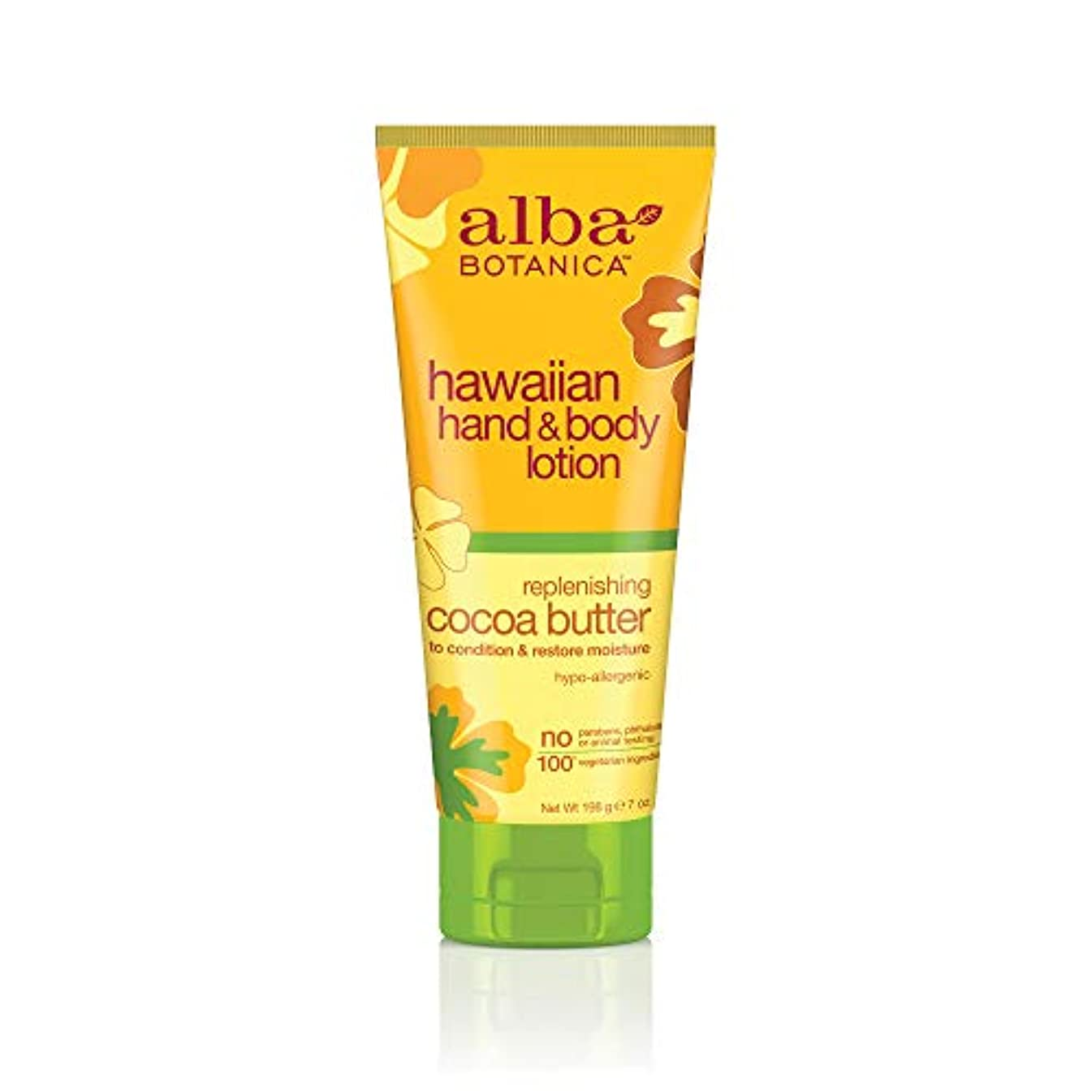 例示するかろうじて花瓶海外直送品 Alba Botanica Hawaiian Hand & Body Lotion, Cocoa Butter 7 oz