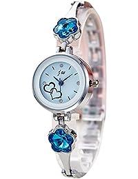 Bestjpshop レディース 腕時計 ブレスレット ファッション 綺麗 女性用 カジュアル 精巧 シンプル エレガント おしゃれ ギフト 花 可愛い C