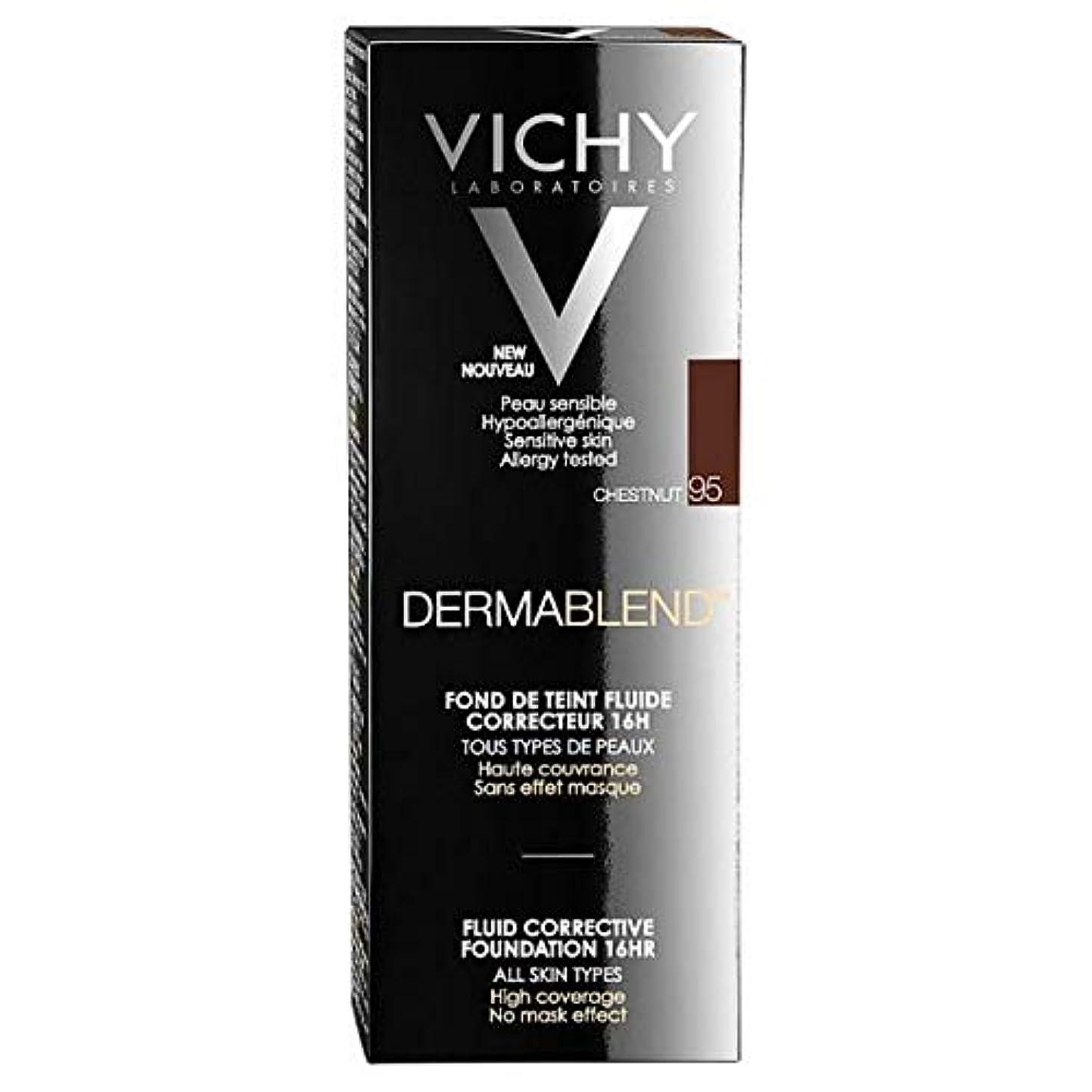 くしゃみ無傷ルビー[Vichy ] ヴィシーDermablend流体是正基盤95 30ミリリットル - Vichy Dermablend Fluid Corrective Foundation 95 30ml [並行輸入品]