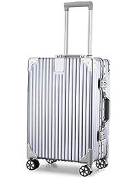 AZBRO スーツケース キャリーケース TSAロック 半鏡面 アルミフレーム レトロ 旅行 出張 静音 超軽量
