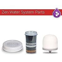 Zen Water System セラミックドーム + マルチ赤外線カーボンフィルター + ミネラルストーン 3個