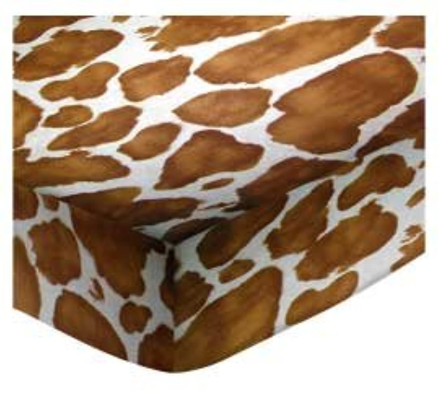 SheetWorld Fitted Cradle Sheet - Brown Cow - Made In USA by sheetworld