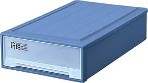 Fits フィッツケース スリムL (幅44x奥行74x高さ18cm) ブルー