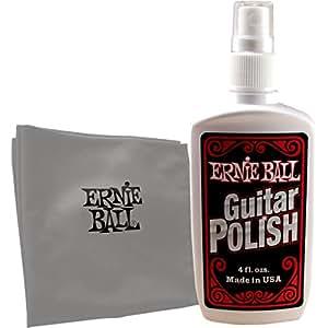 【国内正規輸入品】ERNIE BALL アーニーボール Guitar Polish with Microfiber Cloth 4222