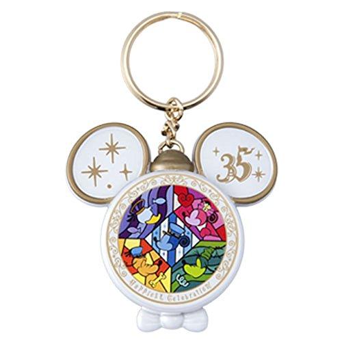 東京 ディズニー リゾート 35周年 Happiest Celebration ! 光る キーチェーン ( ミッキー型 ) キーホルダー ミッキー マウス ( リゾート 限定 )