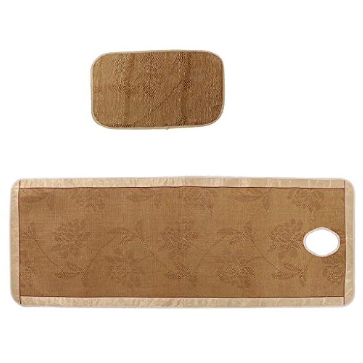 FLAMEER マッサージ台 ベッドシーツ 枕カバー付き エステベッドカバー 接触冷感 クール 快適性 - フローラル1