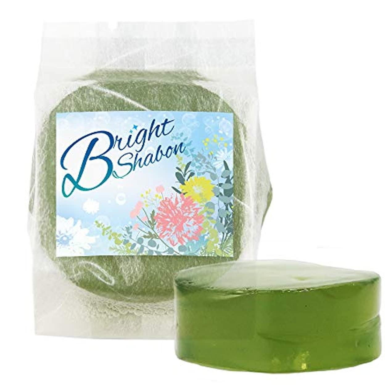 超高層ビルディスククローンブライトシャボン Bright Shabon 洗顔料 ぷるぷる石鹸 石けん