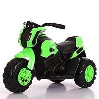 子供用電動バイク、子供用三輪電動バイクに座ることができる、6V電動玩具三輪車、男の子と女の子のスポーツバランスマスターに適しています,グリーン
