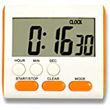 Warreal Timer,Digital Kitchen Timer,Loud Alarm,Countdown Function,Study, Cooking,Reading,Deadline,Multifuctional Cooking Timer 24 Hours LCD Digital Display Count-Down Clock