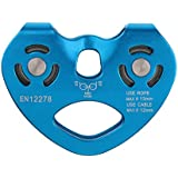F Fityle 30KN Zip Line Cable Trolley Climbing Hauling Zipline Fast Speed 2-Pulley