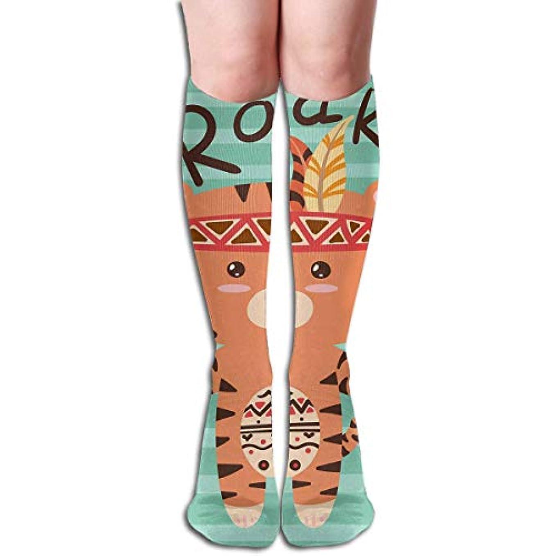 洞察力のある横向きチーフqrriyかわいいトラ轟きチューブストッキングレディース冬暖かい暖かいハイソックスブーツ靴下