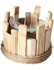 純木香ホルダーエッセンシャルオイル香バーナーホームフレグランスアロマセラピー寝室家庭用香オイルバーナー (Color : A)