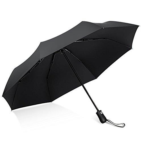 折りたたみ傘 自動開閉 自動折りたたみ傘 軽量 コンパクト 撥水加工 耐強風 晴雨兼用 男女兼用 軽量 210T高強度グラスファイバー 頑丈な8本骨 98cm 330g収納ポーチ付 PoPoWQ