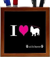 Rikki Knight I Love My Cavalier King Charles Spaniel Dog Design 5-Inch Wooden Tile Pen Holder (RK-PH8513) [並行輸入品]