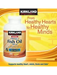 KIRKLAND社 フィッシュオイル (DHA+EPA) オメガ3 1000mg 400ソフトカプセル 3本 [並行輸入品] [海外直送品] 3 Bottles of KIRKLAND's Fish Oil (DHA +...