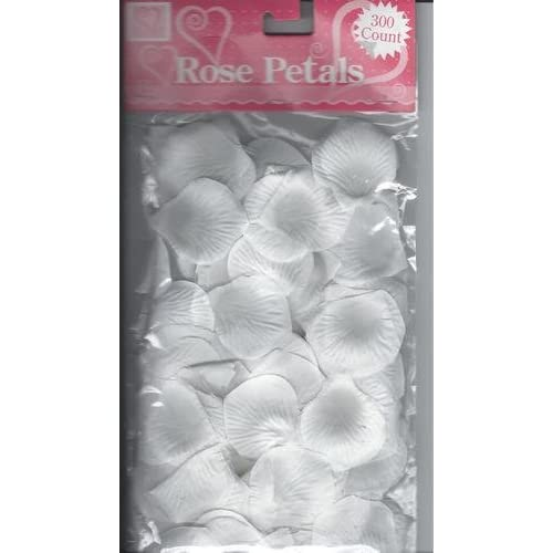 300 Artificial White Rose Petals by Rose Petals by Walking Cradles