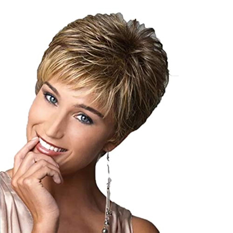 ピケ金貸しランプKerwinner レディースウィッグショートカーリーヘアーショートヘアふわふわナチュラルかつら