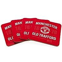 マンチェスター ユナイテッド F.C. 4パック コースター セット/Manchester Utd F.C. 4pk Coaster Set