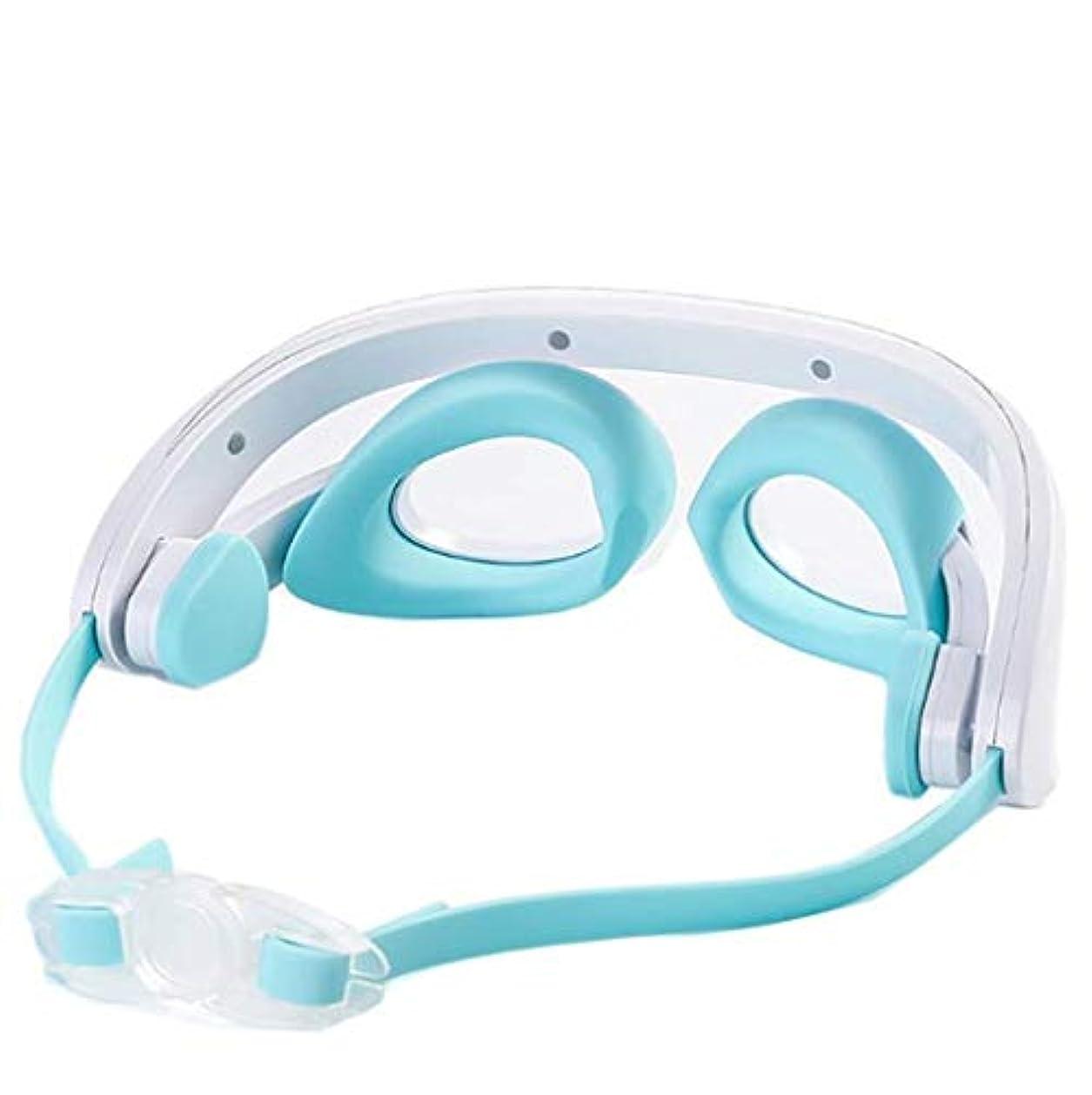 グラマーケイ素驚いたことにアイマッサージャー、スマートLED電動マッサージャー、3つのマッサージモード、一定温度のホットコンプレス、アイバッグとダークサークルに適した、目の疲労を軽減