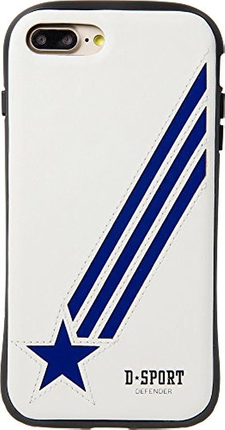 戦闘パウダー彫刻Natural Design 【iPhone 8/7PLUS専用】 衝撃吸収背面ケース D-SPORT BLUE